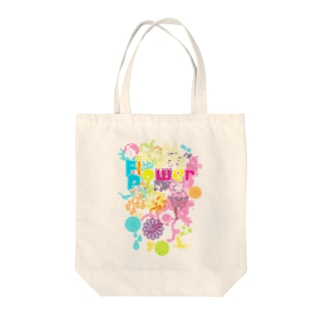 Flower_Power Tote bags