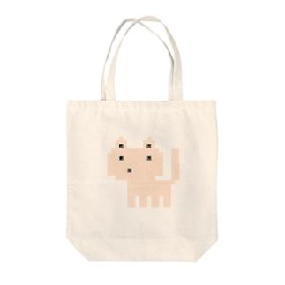 ドットネコベージュ Tote bags