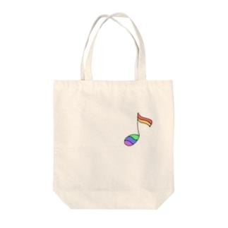 虹の音符2 Tote bags