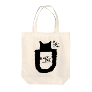 BLACK CATシリーズ2(ネコ/猫) Tote bags