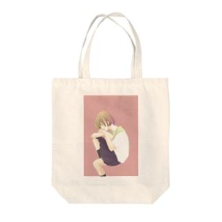 ヒトリちゃん*紫 Tote bags