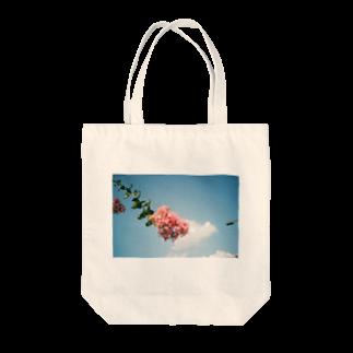 かぴばらのFLOWERS-そら- Tote bags