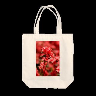 かぴばらのFLOWERS-あか- Tote bags