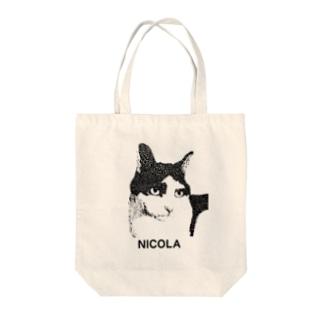 ニコラ(文字入り) Tote bags