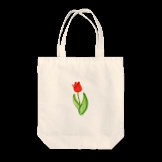 Hinakoの赤いチューリップ、単品で Tote bags
