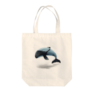 TOMONi Design Works のイロワケイルカ Tote bags
