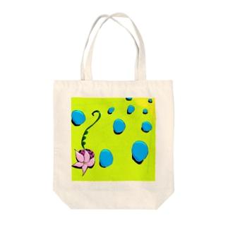 花とシャボン玉 Tote bags