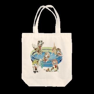 Rock catのキャットパラダイス Tote bags