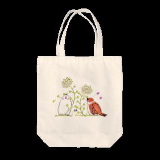 秋菜のぺんぺん草に夢中 Tote bags