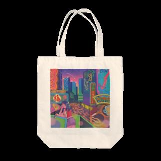 ヨネコ備忘録のneon Tote bags