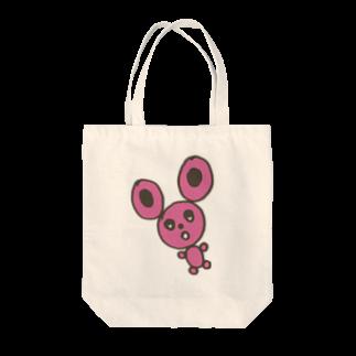 櫻田宗久のまるうさぎ Tote bags