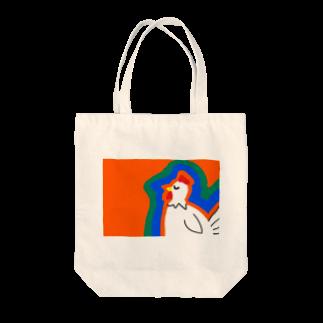 sedyin0210の寝てるカラフルなニワトリ Tote bags