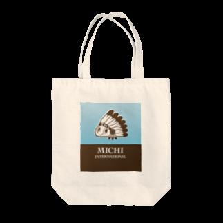 MICHI_INのMICHIインターナショナルロゴ入り2色 Tote bags
