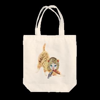 Rock catのCAT GIRL FISH Tote bags