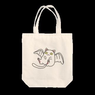 由伊つれづれアートの天使ネコ Tote bags