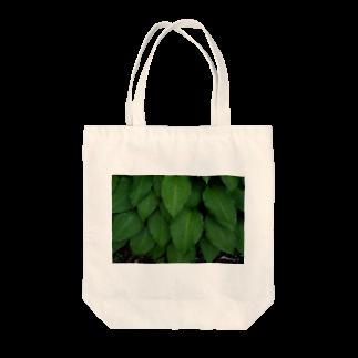 写真プリントの雨上がりの緑 Tote bags
