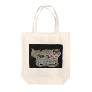 Print items/山中綾子のおくりもの(猫箱) Tote bags