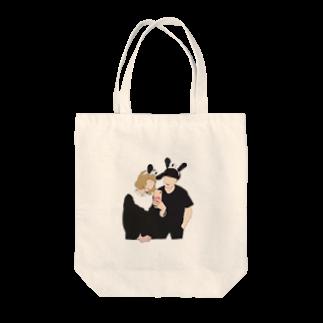 ちょこび屋さんのちょこびトートバッグ Tote bags