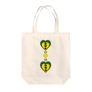 wochinaのハート(みどり✖きいろ) Tote bags