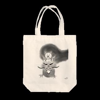 クルリの龍にのった柴犬 Tote bags