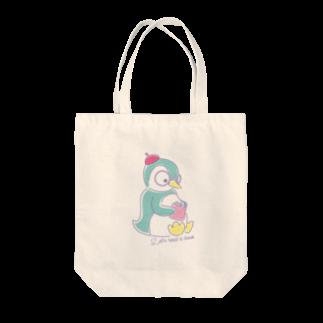 Fancy penguinのふぁんしぃペンギン Tote bags