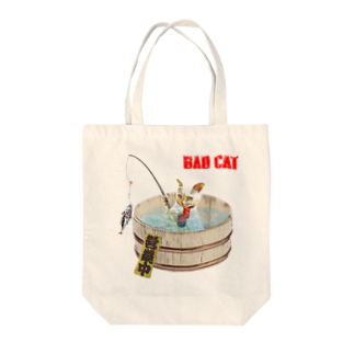 Rock catのBAD CAT 釣り Tote bags