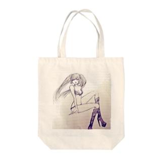 ひぃ、、 Tote bags