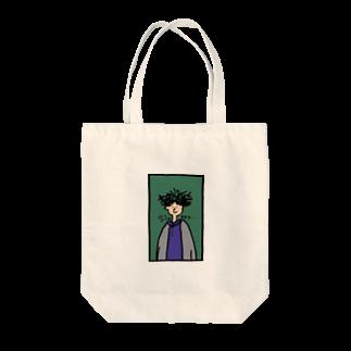 ZUSHIMARUの寝癖ボーイ Tote bags
