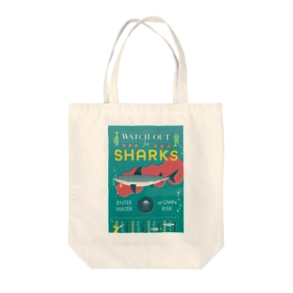 WATCH OUT FOR SHARKS Tote bags