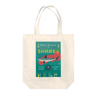 cdh-designのWATCH OUT FOR SHARKS Tote bags