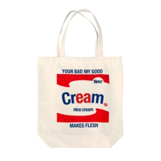 MAKES FLESH Tote bags