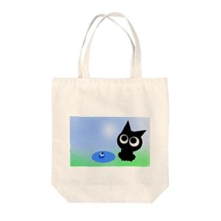 〜ネコト白イノトボク〜 Tote bags