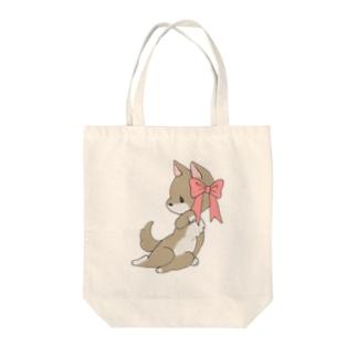 あざとい犬 Tote bags