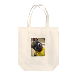 魚の夢CHの黒猫ポピー トートバッグ