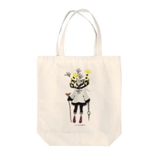 トラバサミの神さま Tote bags