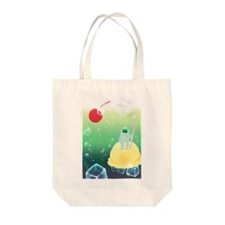 フロートアイランド Tote bags