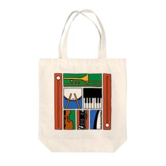 楽器 Tote bags