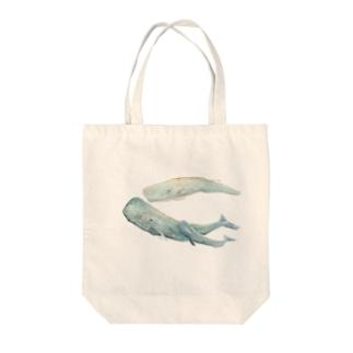 マッコウクジラ Tote bags