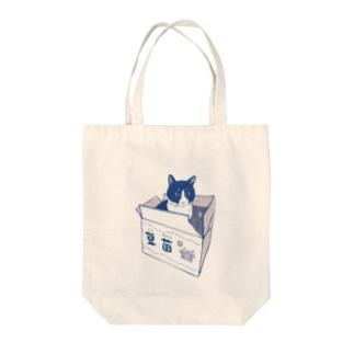 段ボール猫 Tote bags
