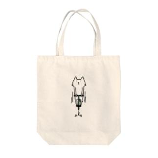 ホッピング猫 Tote bags