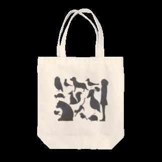 ふぇふぉのゆかいなどうぶつたち Tote bags