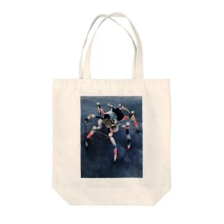 飯野 モモコの単眼蜘蛛/scrap Tote bags
