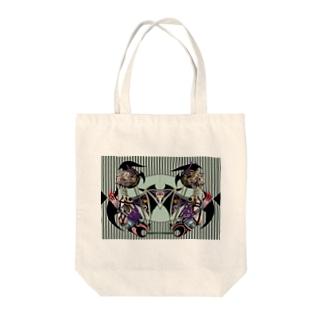 ペンデュラム球体人形 Tote bags
