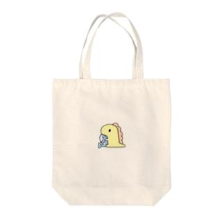 きょうりゅうくんとさめ。 Tote bags