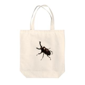 ニジイロクワガタ ダークレッド Tote bags