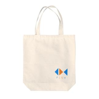 FISHロゴ Tote bags