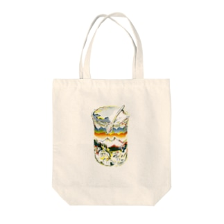 winter memory in the bottle Tote bags