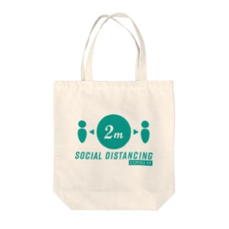 COVID-19 social distancing 啓発グッズ Tote bags