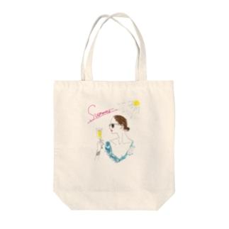 summer@Takako Tote bags