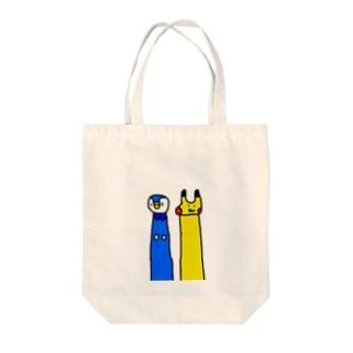 ポチャ&ピカ Tote bags